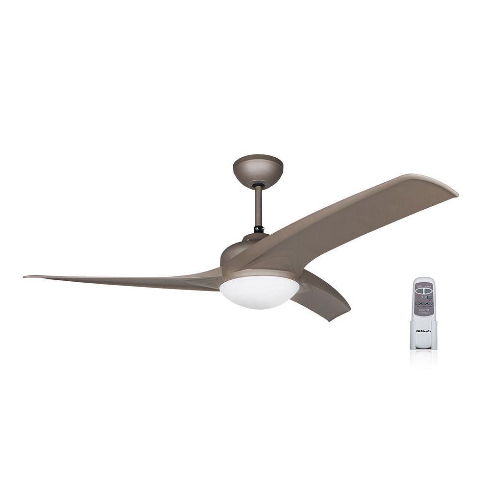 Orbegozo CP 72120 Ventilador de techo con luz y mando a distancia potencia de 60 W y 3 velocidades 105 cm de di/ámetro 4 palas
